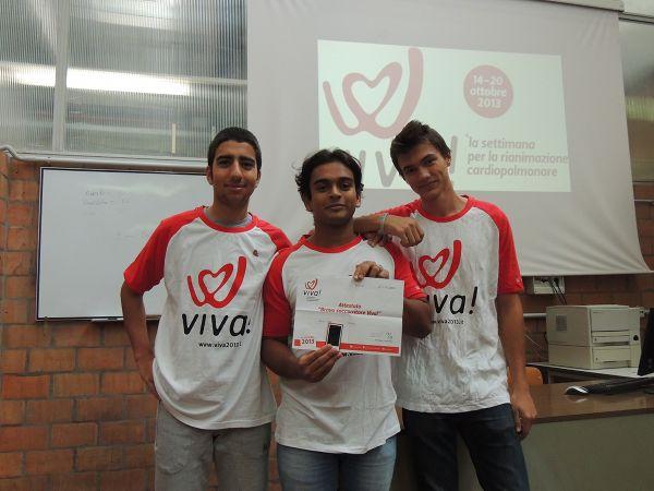 Podio Belluzzi alla competizione Viva! 2013